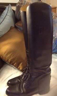 Cavalier Amazonas Tall Equestrian Black Riding Boots Womens 6.5 S Made In Brazil