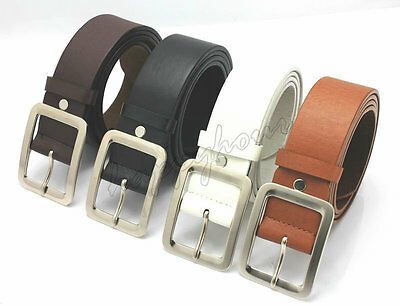 Leather Buckle Belt Casual Dress Men's Womens Jeans Waistband Waist Strap