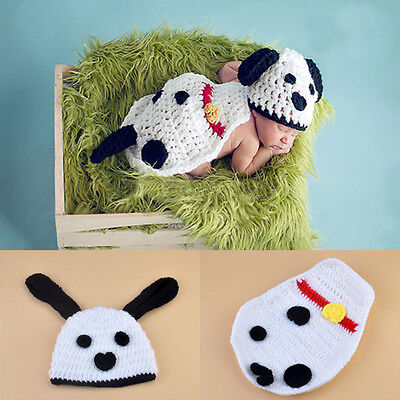 Lovely Handmade Infant Kids Dog Knit Costume Photography Prop Crochet Outfits