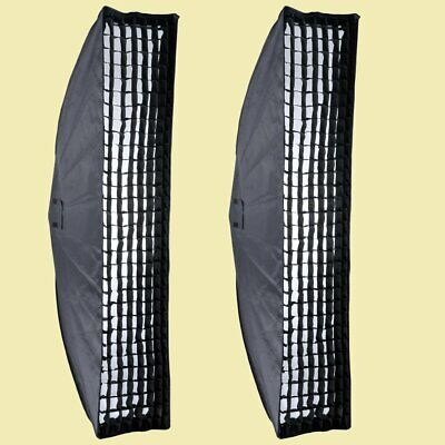 2PCS Godox 35x160cm Honeycomb Grid Softbox Bowens Mount for Studio Strobe Light