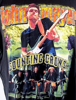 2003 JOHN MAYER and COUNTING CROWS Concert Tour T-Shirt Size Large