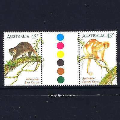 1996 - Australia - Joint Issue with Indonesia - Cuscus - Cuscuses - gutter pair