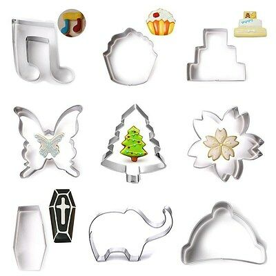 Stainless Steel Biscuit Pastry Cookie Cutter Cake Decor Baking Mold Mould Tools