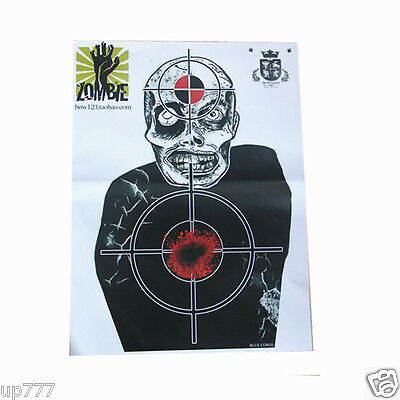 10 Pcs Target Sheet Paper Zombie Round Shoot Practice Game High Quality