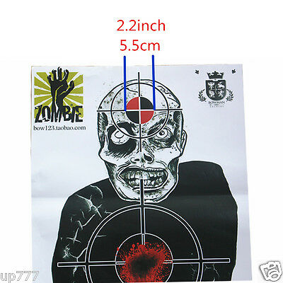 10 Pcs Target Sheet Paper Zombie Round Shoot Practice Game High Quality Hunt