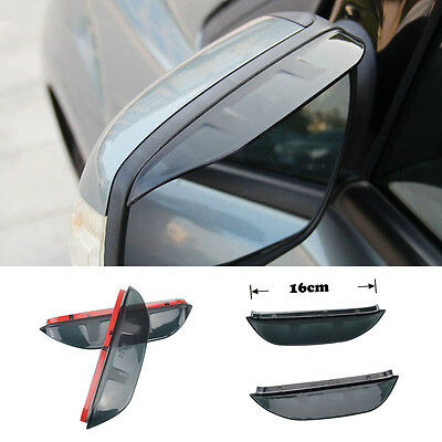 Fit For Ford Focus Mk2 04-11 Side Door Wing Mirror Rain Guard Visor Chrome Cover