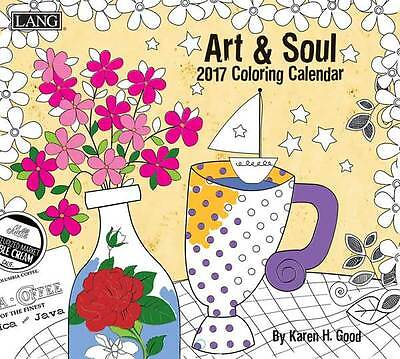 2017 Lang Calendar ART & SOUL COLOURING IN New Wall Calender Fits Wall Frame ...