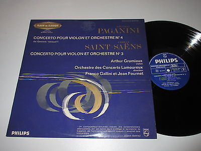 LP/PAGANINI SAINT AENS/signed by ARTHUR GRUMIAUX/FOURNET/Philips 836931
