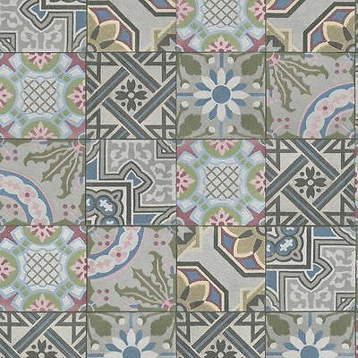 Rasch Moroccan Baroque Tile Pattern Wallpaper Realistic Faux Effect Texture Roll