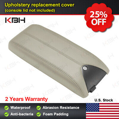Leather Armrest Center Console Lid Cover Fits for Acura RDX 2007-2012 Beige Tan