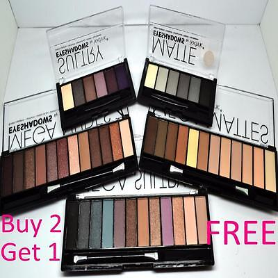 Technic 6 and 12 EyeShadow Eye Shadow Sets Set Nude Matte Sultry Palette Pallet