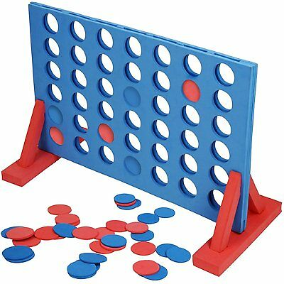 Giant Connect 4 In A Row Garden Outdoor Game Kids Adults Family Fun Xmas Free Pp