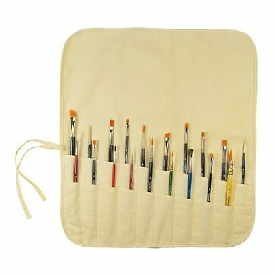 PAINT BRUSH or Tool HOLDER Organizer Canvas Long or Short Brushes Roll up