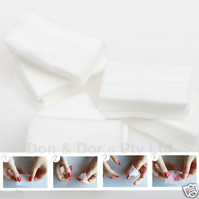 Acrylic Cleanser UV Gel Nail Art Polish Cleaner Remover Wipes Lint Cotton Pads