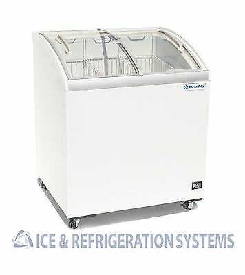 """Metalfrio 30"""" Commercial Curved Top Glass Novelty  Ice Cream Freezer Chest Msc30"""