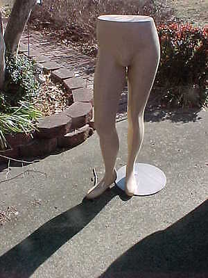 "Male Leg Form Pant Form 44"" Male W/Stainless Base Mannequin FREE SHIP"