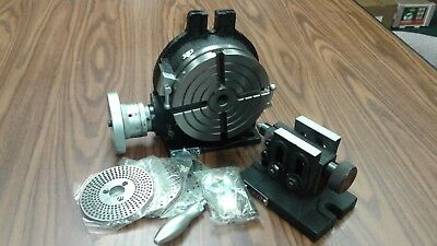 "6"" HORIZONTAL VERTICAL ROTARY TABLE, Dividing plates,tailstock #TSL150-GRVN-new"
