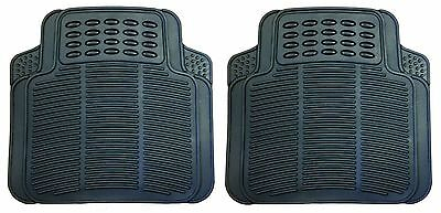 2 Peice Rear Heavy Duty Rubber Car Mat With Non-Slip Backing