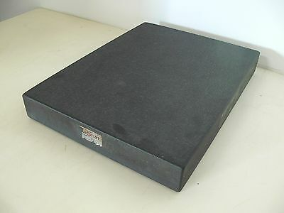 """Collins Microflat Granite Machinist Inspection Surface Plate18""""x24""""x3-1/4"""" Black"""