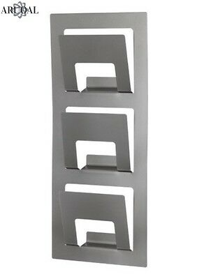 IKEA SPONTAN Wall Mounted, Newspaper, Magazine Rack, Silver Colour