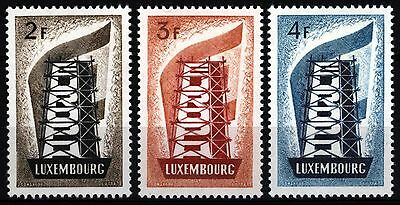 Luxembourg 1956 Europa set of 3 SG 609-611 Sc 318-320 , Mint Hinged