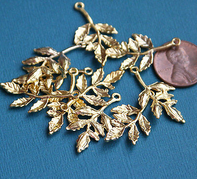 Bulk 100 pcs gold plated Leaves Charms, alloy leaves pendant
