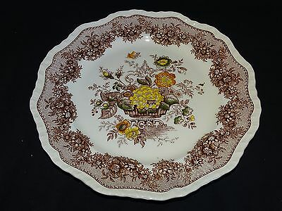 """Mason's England Ascot Dinner Plate Brown Multi Colored 10 3/4"""" Hand Painted"""