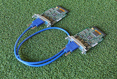 2 x CISCO WIC-2T 2-Port Serial WAN Interface Card with CAB-SS-2626X-3FT Cable