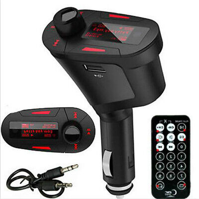 USB SD MMC Remote Control LCD Car Kit MP3 Music Player Wireless FM Transmitter