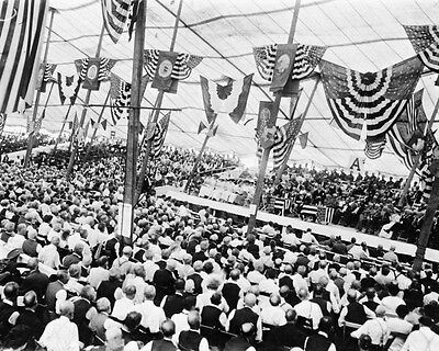 New 11x14 Civil War Photo: Crowd in Tent at Gettysburg 50th Veterans Reunion