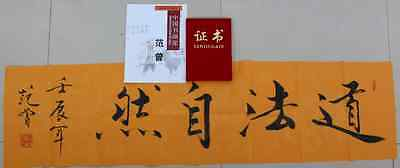 Excellent Chinese Hand Calligraphy By Fan Zeng 范增 With Certificate