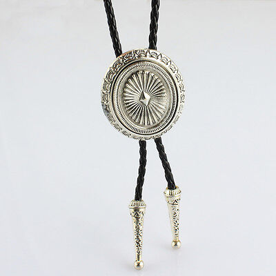 Western Cowboy Silver Bolo Ties Rodeo Dance Poirot Tie Necklace Bootlace Tie
