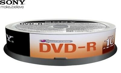 SONY DVD-R 4.7GB 16x Speed 120min Recordable DVD Discs Spindle PK 10 (10DMR47SP)