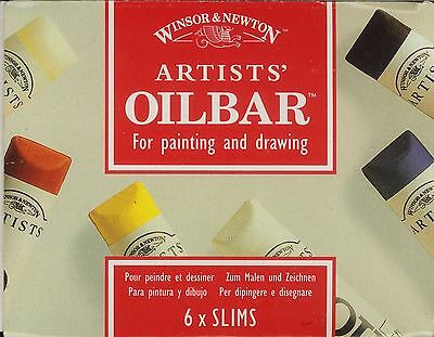Winsor And Newton Artists' Oilbar for painting and drawing 6 slims NEW
