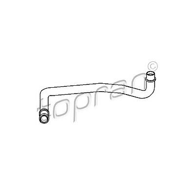 TOPRAN Hose, cylinder head cover breather 109 614