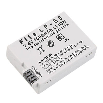 NEW Replacement 7.4V 1500MAH Rechargeable Li-Ion Battery for CANON LP-E8 HOT LC