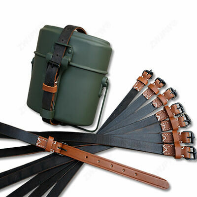 WW2 GERMAN LEATHER EQUIPMENT CANTEEN poncho  STRAPS BELTS BLACK