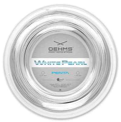 """OEHMS """"WHITE PEARL PENTA"""" Co-Polyester Tennis String, 660ft"""