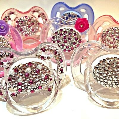 AVENT / NUK  Swarovski Crystal Dummy Soother Pacifier 0+ month Germany Quality