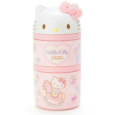 Hello Kitty Baby Toddler Lunch Case Box Pink Spoon ❤ Sanrio Japan