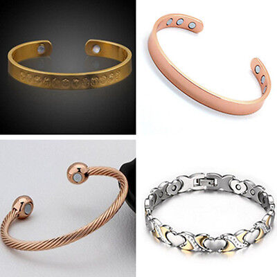 Arthritis Pain Relief Twisted Healing Copper Magnetic Therapy Bracelet Bangle