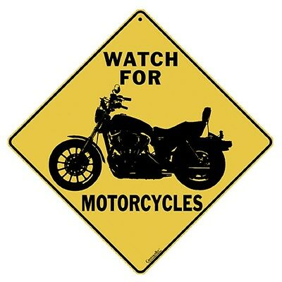 Watch for Motorcycles Sign NEW 12X12 Metal Cycle