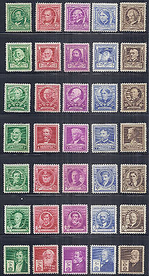 1940 US SC 859-893 Complete Famous Americans Set of 35 - VF MH*