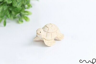 Handmade Hand Carved Natural Small Wooden Turtle Animal for Crafts Home Deco 1