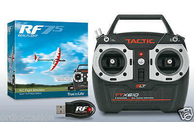 NEW Realflight 7.5 RC simulator with wireless SLT interface and Tactic TTX610