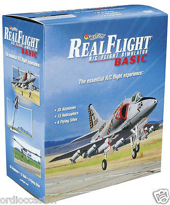 NEW Realflight Basic RC simulator with USB Transmitter controller Mode 2