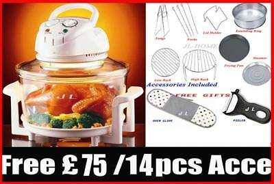 New 12L Halogen Convection Oven Cooker Free Kitchen Accessories