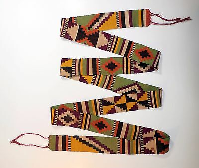 Old Finely Woven Sash - Belt Ethnic Native Aboriginal Middle East America Berber