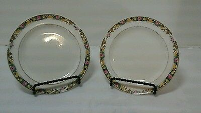 "Set Of 2 Edwin M Knowles Semi Vitreous 6"" Saucer Or Bread And Butter Plates"
