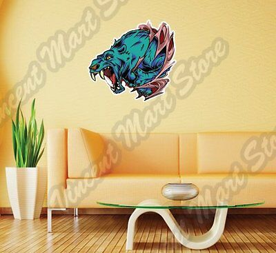 "Grizzly Brown Bear Wild Animal Abstract Wall Sticker Room Interior Decor 22""X22"""